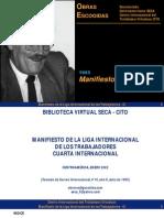 Manifiesto de La LIT CI