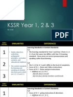 KSSR Year 1, 2 & 3 Comparison