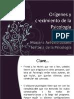 3. Orígenes y crecimiento de la Psicología