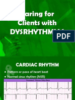 Caring for clients with dysrhythmias