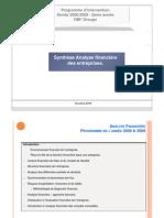 cours Analyse Financière 2009 & 2010 ( 1ère partie) ( 2ème année HBFA)