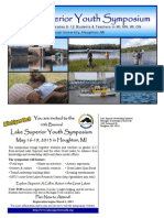 2013 Info for 10th Biennial Lake Superior Youth Symposium May 16-19, 2013 MTU Houghton