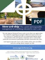 Stewardship Interfaith Faith Poster for Lake Superior Day