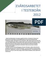 Årsberättelse för fiskevårdsarbetet i Testeboån 2012