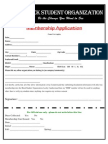 Black Student Organization Membership Application