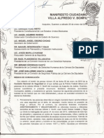 """Manifiesto Ciudadano """"Alfredo V. Bonfil"""" contra abusos de la PF"""