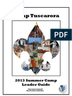 2013 Camp Tuscarora Boy Scout Summer Camp Leader Guide - 2013