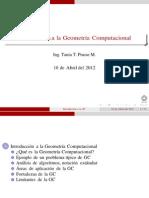 Geometría Computacional Tema1
