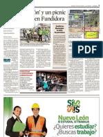 Frente Nuevo León - Nota en El Norte por reforestación en Parque Fundidora