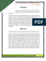 Hipotesis de Impacto, Pasivos Ambientales, Impactos Sociales.pptx