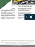 Tax Alert - Decreto Que Modifica El Decreto Que Crea El Fondo Nacional Antidrogas