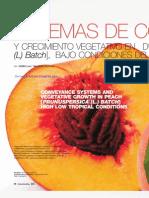Sistemas de Conducción y Crecimiento Vegetativo en Durazno (Prunus pérsica (l) Batch), bajo condiciones del Trópico Alto