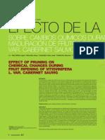 Efecto de la poda sobre cambios químicos durante la maduración de frutos de vitis vinifera l. var. cabernet suvignon