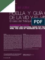 """El éxtasis del colibrí huella y guía cultural de la vid y le vino. El caso del """"Marqués de Villa de Leyva"""""""