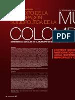 Contexto de la participación sociopolítica de la mujer Colombiana. Experiencias locales en el municipio de Boyacá (Boyacá)