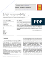 Do Liquidity Measures Measure Liquidity by Goyenko, Holden, And Trzcinka (JFE 2009)