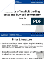 Measures of Implicit Trading Cost Gang Hu- Archana