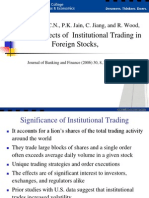 Volatility Effects of Institutional Trading in Foreign Stocks, by Chiyachantana et al. (2006 JBF)