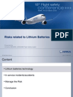 Risks Related to Lithium Batteries