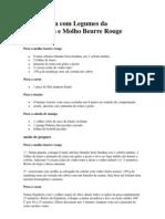 Filé Mignon com Legumes da Temporada e Molho Beurre Rouge