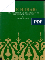 The Hijrah- The Necessity of Its Iqamat or Vergegenwartigung