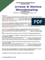 Wentworth PC Nervous & Novice Show