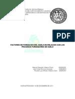 Procesos y Factores de Formacion de Suelo
