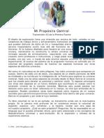 Bitacora Fenix - Mi Proposito Central