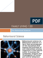 The Behavioral Sciences