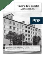 Housing Law Bulletin