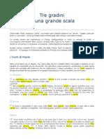 I Tre Gradi Della Scala
