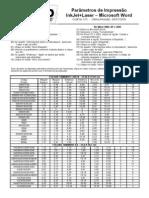 CodFax015 Parametros de Impressao InkJet Laser Microsoft Word