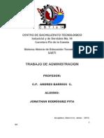 Administracion 5o. Trimestre -2012 Cbtis 14
