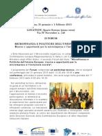 Programma Forum Microcredito 2013