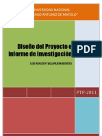 Libro Diseño del Proyecto e Informe de Investigación