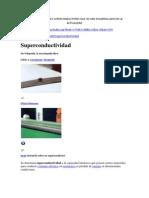 Tipos de Materiales Superconductores Que Se Han Desarrollado en La Actualidad