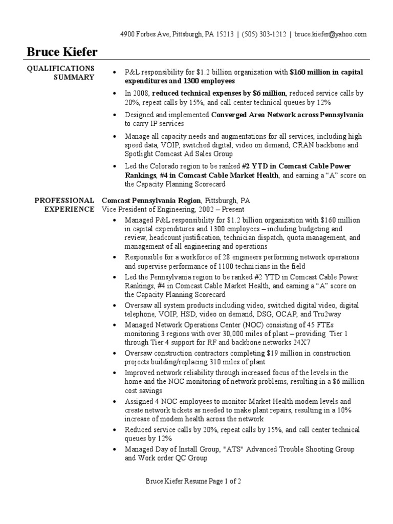 vp of engineering resume sample comcast voice over ip. Resume Example. Resume CV Cover Letter