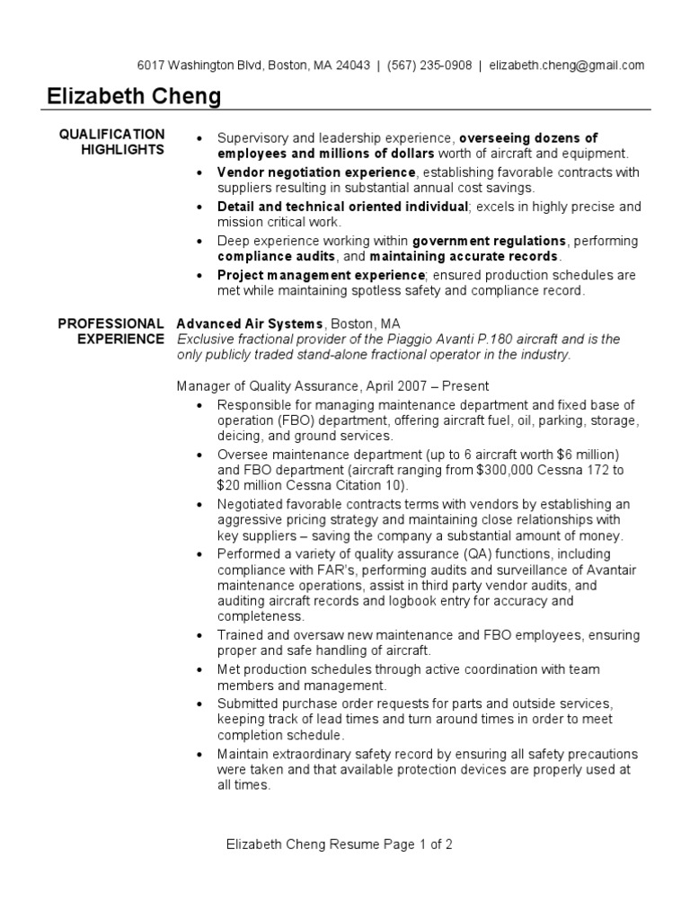 quality assurance manager resume sample quality assurance industries - Quality Control Resume
