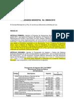 Poa 2011 Ordenanza Presupuesto