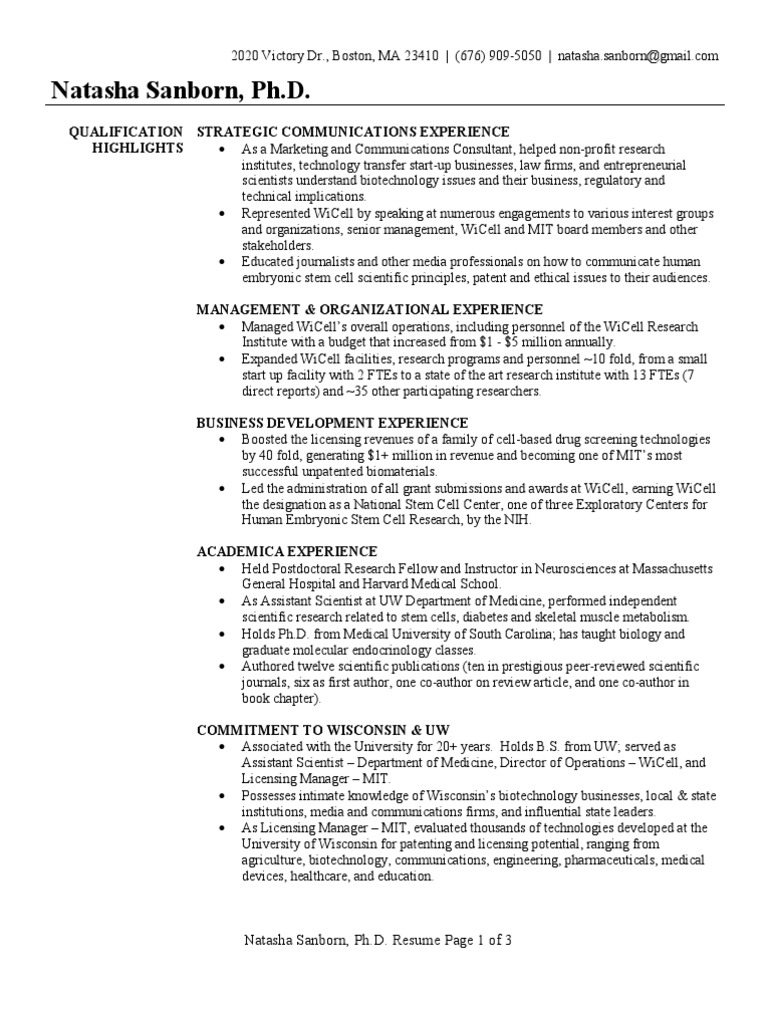 Business Development Executive Resume Sample  Massachusetts
