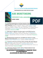 Air Monitoring Poster Session and Symposium