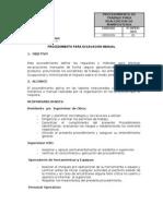 Procedimiento Excavacion Manual