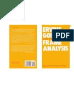 Frame Analysis - Erving Goffman