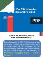 Resolución 394 MINEDUC