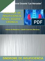 SINDROME DE INSUFICIENCIA RENAL AGUDA Y CRÓNICA