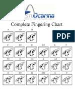 12 Hole Ocarina Fingering Chart