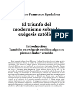 El Triunfo Del Modernismo Sobre La Exegesis Catolica(Francesco Spadafora)