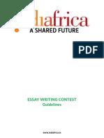 IndiAfrica Essay Guideline