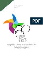 programa centro de estudiantes de trabajo social 2013