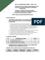 Plan de Trabajo Cuatrimestral Del Docente en Pareibrene Enero - Abril